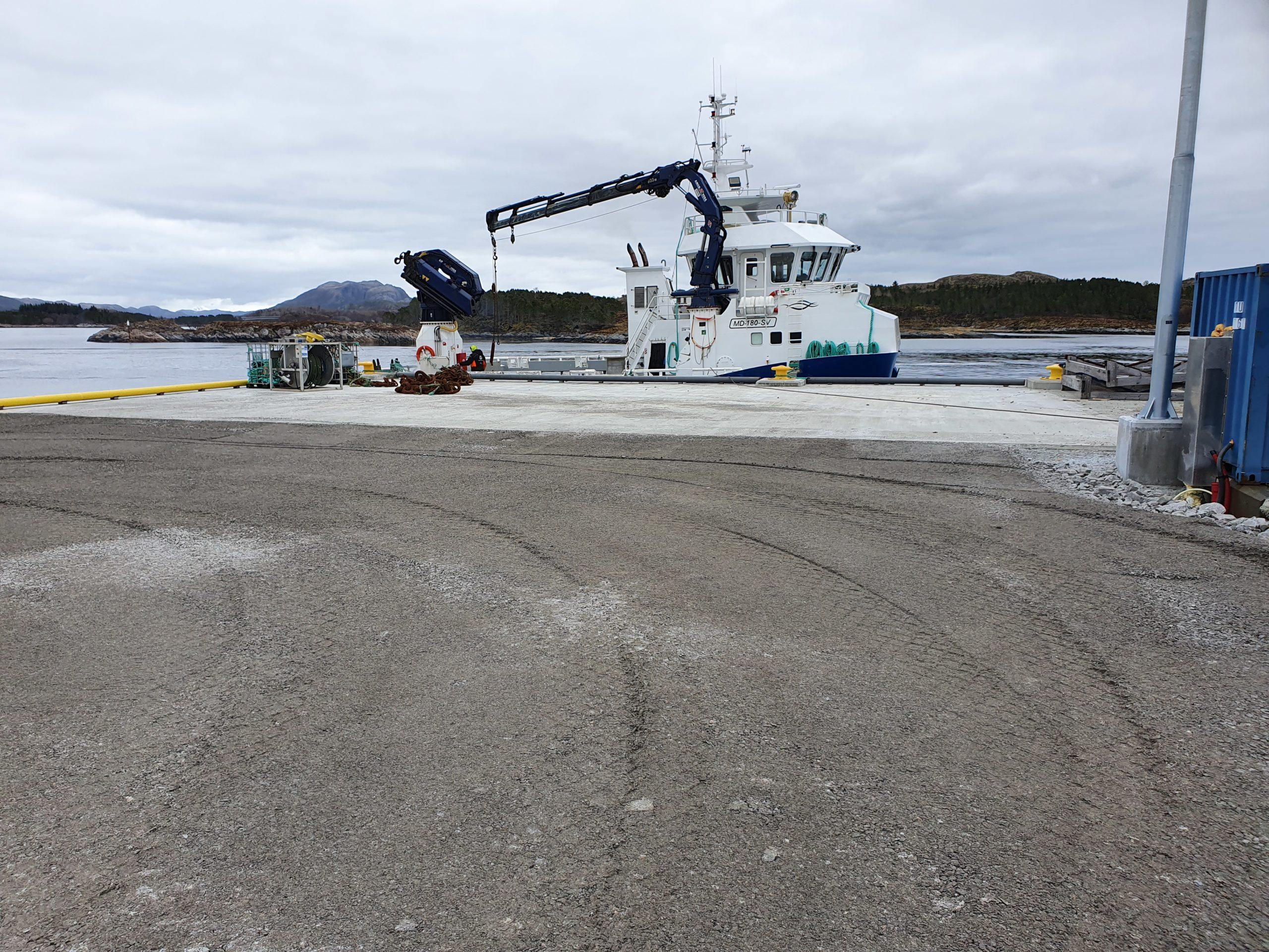 Utvidelse betongkai Marøya